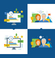 workflow and efficient project management growth vector image vector image