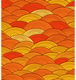 Abstract seamless pattern of yellow waves vector image