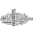 window alarms text word cloud concept vector image