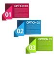 Infographics option banners vector image