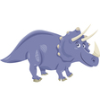 triceratops dinosaur cartoon vector image