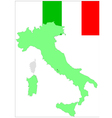 6203 italy map and flag vector image vector image