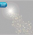 a bright comet with falling star glow light vector image