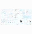 a set hud calendars elements for futuristic vector image
