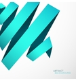 Abstract background Blue cyan curved line ribbon vector image