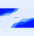 abstract blue papercut style background for vector image
