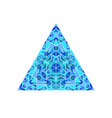 abstract colorful isolated mosaic triangle symbol vector image vector image