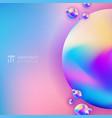 abstract trendy 3d circle gradient color on vector image vector image
