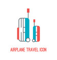 airplane travel icon vector image vector image