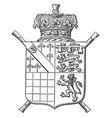 arms of the duke of norfolk is a escutcheon vector image vector image