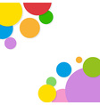 Background circles rainbow vector image vector image
