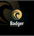 badger logotype template vector image vector image