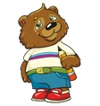 bear with a pencil on a white background vector image vector image