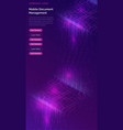 big data waterfall streams digital binary code vector image