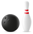 bowling ball and skittle vector image vector image