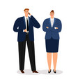 business couple young executive businessman vector image vector image