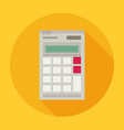 calculator flat style with long shadow colorful vector image