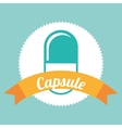 capsule icon vector image vector image