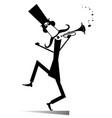 cartoon long mustache trumpeter vector image