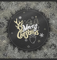 chalk christmas coniferous frame on blackboard vector image vector image