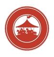 circus horse entertainment icon vector image