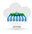 Cloud with awning vector image