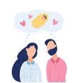 couple dream about child fertility treatment flat vector image vector image