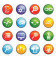 data analytic icon set vector image