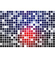 deep blue and red occasional opacity mosaic over vector image vector image