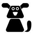 dog icon black color flat style simple image vector image vector image