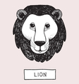 Drawing Lion Head vector image