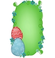 Easter banner with text field vector image vector image