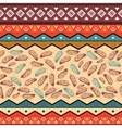 ethnic tribal pattern background vector image vector image