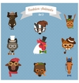 Fashion Hipster Animals set 3 vector image vector image
