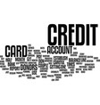 first step to build credit text background word vector image vector image