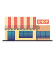 flat design shop facade icon stylized vector image vector image
