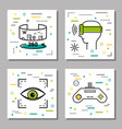 four finance thin line icons vector image vector image
