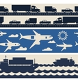 Freight cargo transport icons seamless patterns in vector image vector image