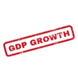 GDP Growth Rubber Stamp vector image vector image