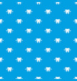 good tooth pattern seamless blue vector image vector image