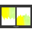 green and yellow watercolor background vector image vector image