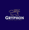 gryphon line art style vector image
