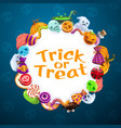 halloween trick or treat horror party candy sweets vector image vector image