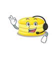 happy lemon macaron mascot design style wearing vector image vector image