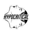 hypocritical placard with hand drawn girl vector image vector image