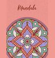 indian mandala flower art poster concept vector image