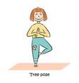 kid yoga logo vector image