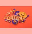 latin salsa music paper cut icon quote concept vector image vector image