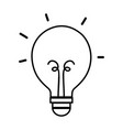 line light bulb energy object icon vector image