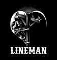 lineman vector image vector image